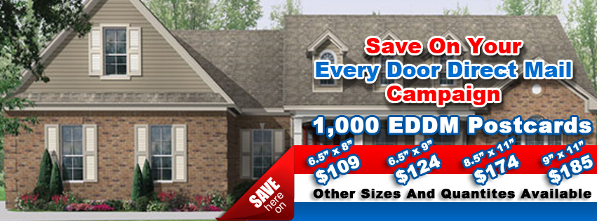 1000 every door direct mail postcards